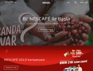 nescafe.com.tr screenshot