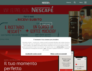 nescafe.it screenshot