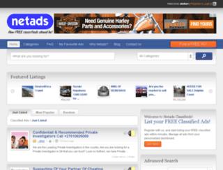 netads.co.za screenshot