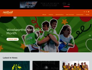 netball.com.au screenshot