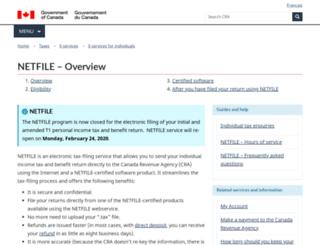 netfile.gc.ca screenshot