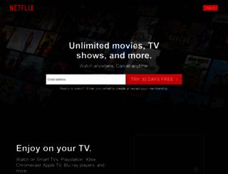 netflix.com screenshot