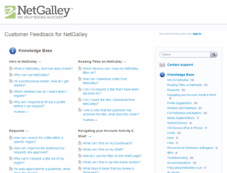 netgalley.uservoice.com screenshot