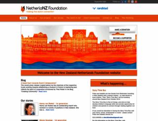 netherlandsfoundation.org.nz screenshot