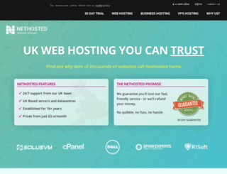 nethosted.co.uk screenshot
