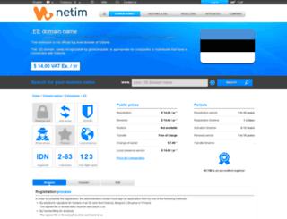 netim.ee screenshot