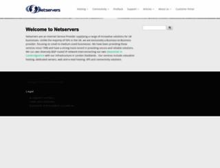 netservers.co.uk screenshot