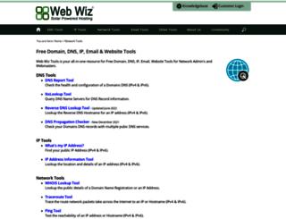 network-tools.webwiz.co.uk screenshot