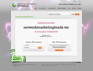 networkmarketingleads.ws screenshot