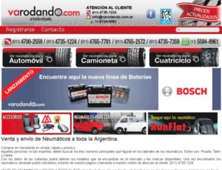 neumaticosvarodando.com.ar screenshot