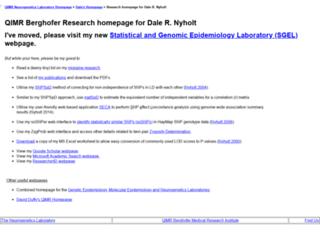 neurogenetics.qimrberghofer.edu.au screenshot
