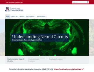 neurosci.arizona.edu screenshot