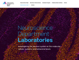 neuroscience.mssm.edu screenshot