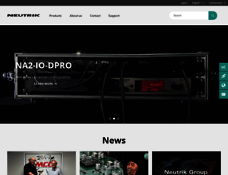 neutrik.com screenshot