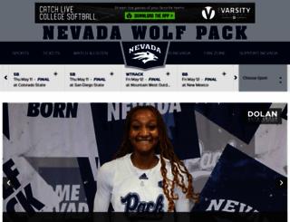 nevadawolfpack.com screenshot