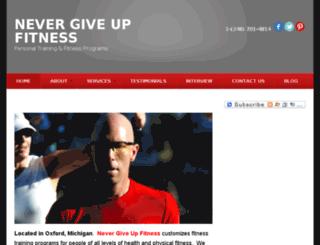 nevergiveupfitness.com screenshot