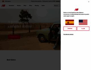 newbalance.es screenshot