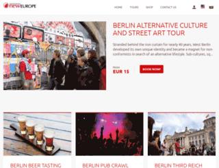 newberlintours.trekksoft.com screenshot
