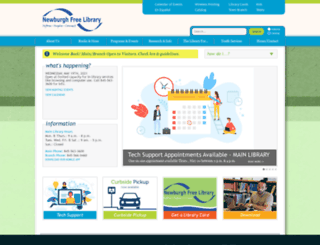 newburghlibrary.org screenshot