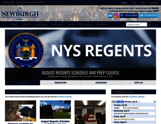 newburghschools.org screenshot