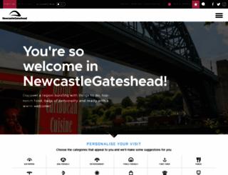 newcastlegateshead.com screenshot