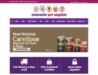 newcastlepets.co.uk screenshot