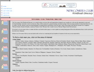 newcomersclub.com screenshot