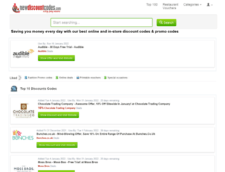 newdiscountcodes.com screenshot