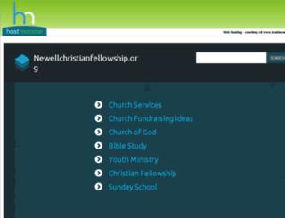 newellchristianfellowship.org screenshot