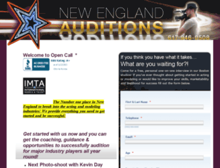 newenglandauditions.com screenshot