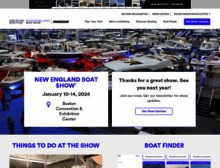 newenglandboatshow.com screenshot