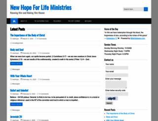 newhopeforlife.org screenshot