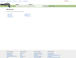 newjobs.co.uk screenshot