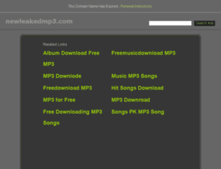 newleakedmp3.com screenshot