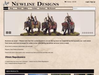 newlinedesigns.co.uk screenshot