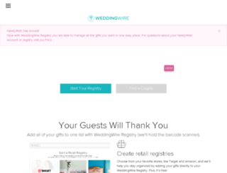 newlywish.com screenshot