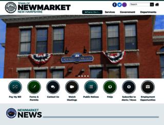 newmarketnh.gov screenshot