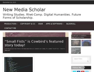 newmediascholar.net screenshot