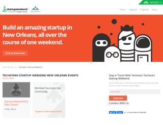 neworleans.startupweekend.org screenshot