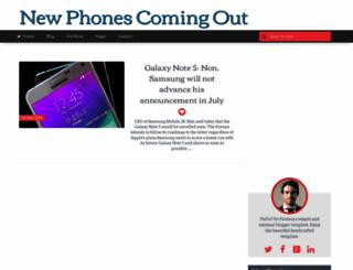 newphones-coming-out.blogspot.com screenshot