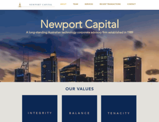 newportcapital.com.au screenshot