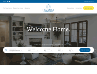 newregencyhomes.com screenshot