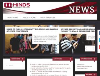 news.hindscc.edu screenshot