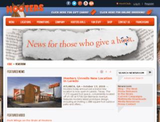 news.hooters.com screenshot