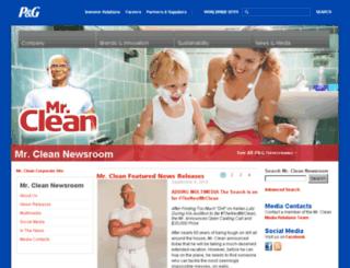 news.mrclean.com screenshot