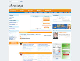news.support.skrastas.lt screenshot