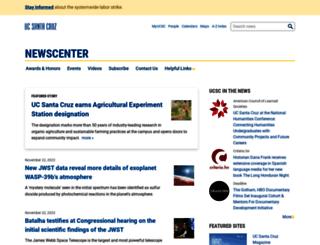news.ucsc.edu screenshot