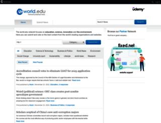 news.world.edu screenshot
