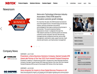 news.xerox.com screenshot