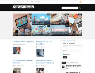 newsadmin.com screenshot